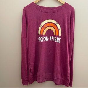 Good Vibes Sweatshirt Size Purple  XXL